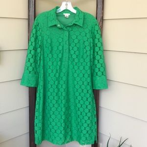 📦3/$20 André Oliver | Kelly Green Shirtdress | 12